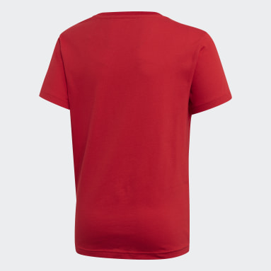 T-shirt Trefoil rouge Adolescents Originals