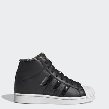Women Originals Black Superstar Up Shoes