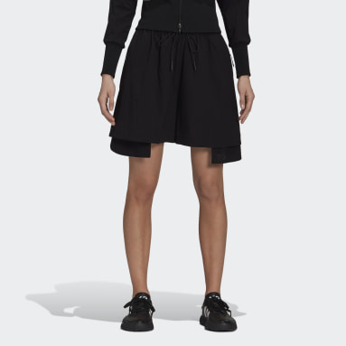 Women Y-3 Black Y-3 Classic Light Stretch Woven Shorts