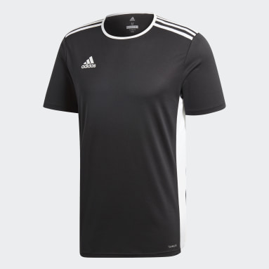 Men Football Black Entrada18 Jersey