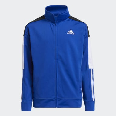 Youth Training Blue Colorblock Linear Jacket