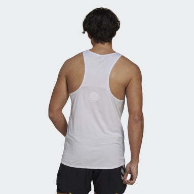 Men's Running White Made To Be Remade Running Singlet