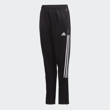 Kids Football Black Tiro 21 Track Pants