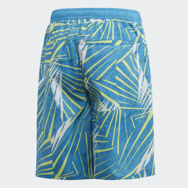 Kids 4-8 Years Swimming Turquoise Board Shorts