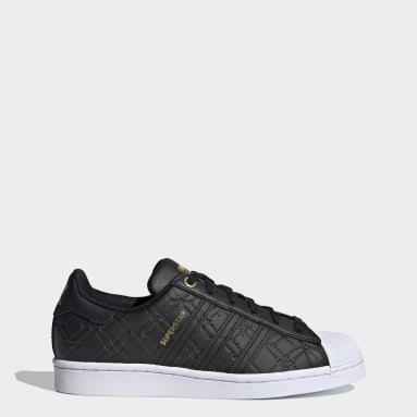 Dames Originals Zwart Superstar Schoenen