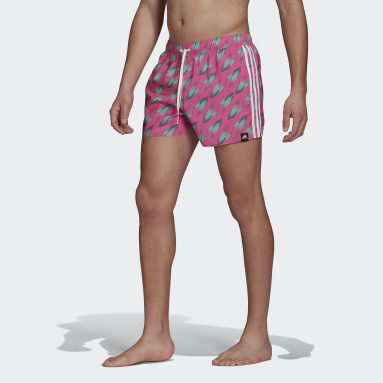 Men's Swim Pink Graphic Swim Shorts