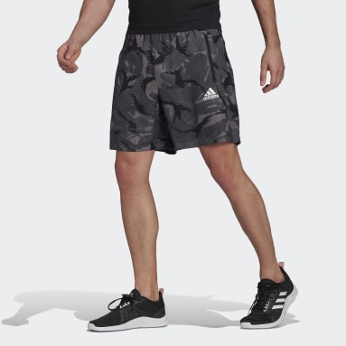 Men's Training Grey adidas Designed 2 Move Camouflage AEROREADY Shorts