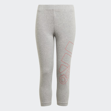 Meisjes Sportswear Grijs adidas Essentials Logo 7/8 Legging
