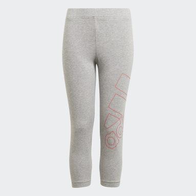 Mädchen Sportswear adidas Essentials Logo 7/8-Tight Grau