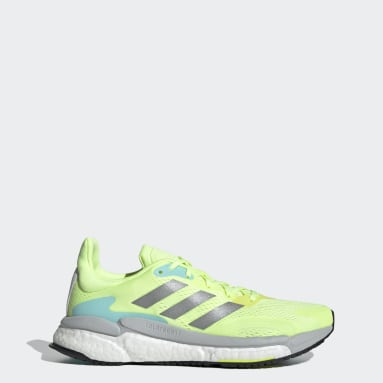 Women Running Yellow SolarBoost 3 Shoes
