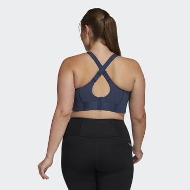 Women Winter Sports Blue Ultimate Bra (Plus Size)