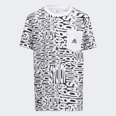 Youth Training White Allover Print Tee