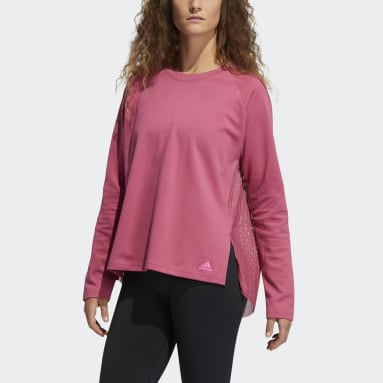 Frauen Fitness & Training Dance Layering Pullover Rosa