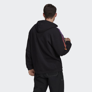 Men Originals Black adidas SPRT 3-Stripes Hoodie