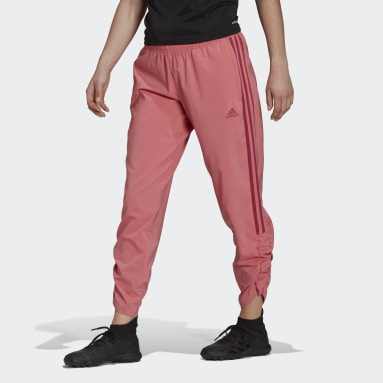 Women Football Pink Tiro Woven Ruched Pants