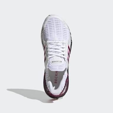Men Running White Ultraboost DNA x Beckham Shoes