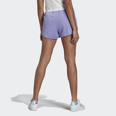 Women Originals Purple Zip-Up Shorts