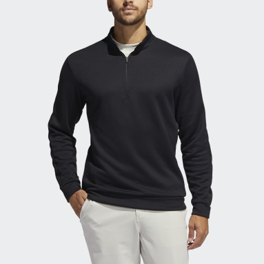 Men Golf Black Adicross Quarter-Zip Sweatshirt