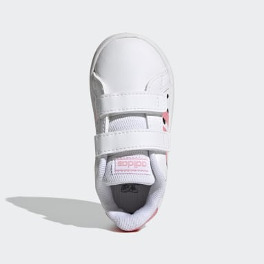 Infants Sport Inspired White Grand Court Shoes