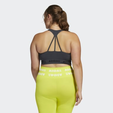 Women Yoga Grey Training Aeroknit Bra (Plus Size)