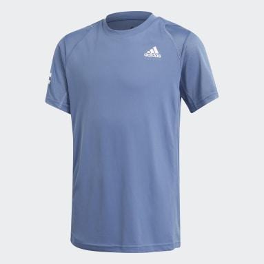 Polera de Tenis Club 3 Tiras Azul Niño Tenis