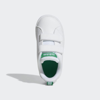 Infant Sport Inspired White VS Advantage Clean Shoes