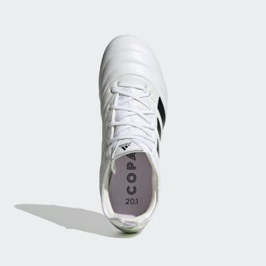 Bota de fútbol Copa 20.1 césped natural seco Blanco Niño Fútbol