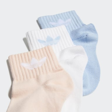 Kids Originals White Mid-Ankle Socks 3 Pairs