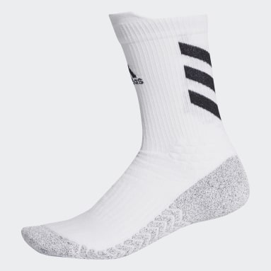 Cricket White Alphaskin Traxion Crew Socks
