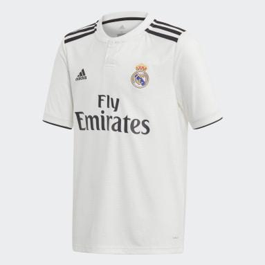Jersey de Local Real Madrid Réplica (UNISEX) Blanco Niño Fútbol