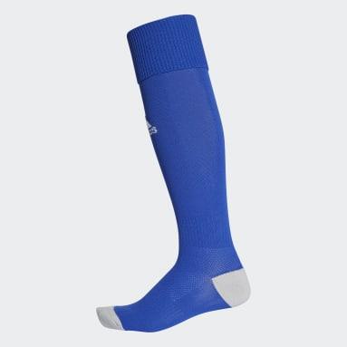 Medias Milano 16 1 Par (UNISEX) Azul Fútbol