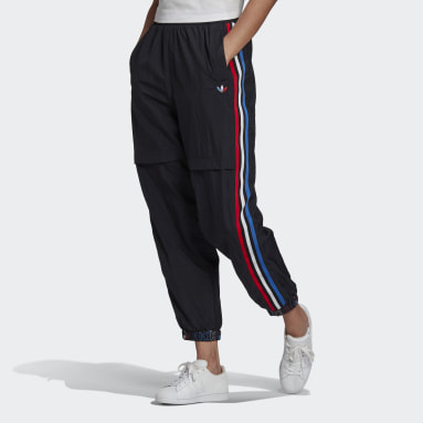 Women Originals Black Adicolor Tricolor Japona Sweat Tracksuit Bottoms