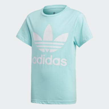 T-shirt Trefoil Blu Bambini Originals