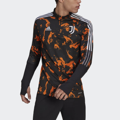 Men's Soccer Black Juventus Graphic Track Top