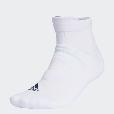 Men Golf White Mesh Ankle Socks 2 Pairs