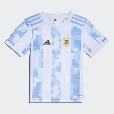 Mini Uniforme Titular Selección Argentina (UNISEX) Blanco Niño Fútbol