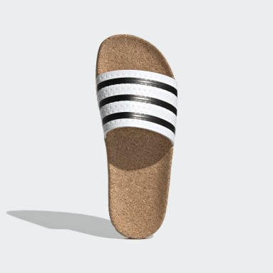 Dames Originals Wit adilette Cork Badslippers