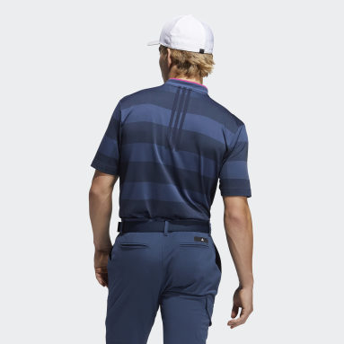 Herr Golf Blå Primeknit Polo Shirt