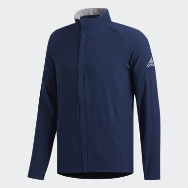 Men Golf Blue Soft Shell Jacket