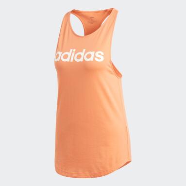 Camiseta de tirantes Essentials Linear Naranja Mujer Gimnasio Y Entrenamiento