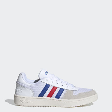 Men Sport Inspired White Hoops 2.0 Shoes