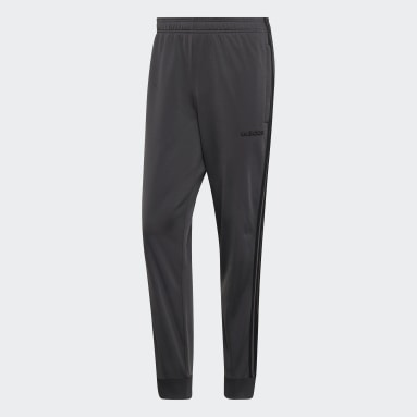Men's Essentials Grey Essentials 3-Stripes Tapered Tricot Pants