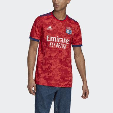 Camisola Alternativa 21/22 do Olympique Lyonnais Vermelho Homem Futebol