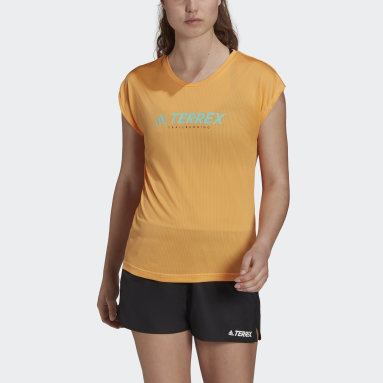 T-shirt Terrex Primeblue Trail Functional Logo Orange Femmes TERREX
