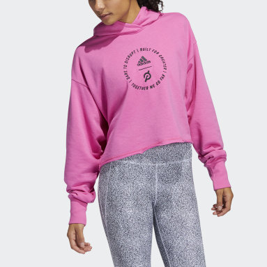 Women Training Pink adidas x Peloton Crop Hoodie