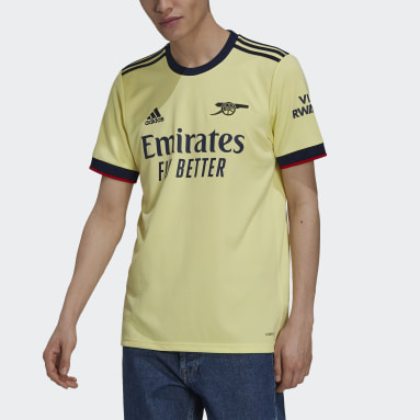 Men's Soccer Yellow Arsenal 21/22 Away Jersey