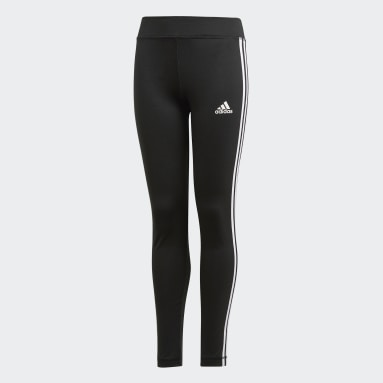 Youth Training Black Equip 3-Stripes Tights