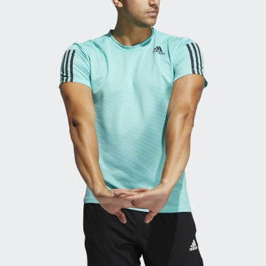 Heren Fitness En Training Groen Primeblue AEROREADY 3-Stripes Slim-fit T-shirt