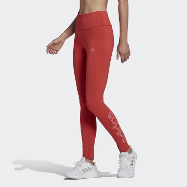 Women's Essentials Red LOUNGEWEAR Essentials High-Waisted Logo Leggings
