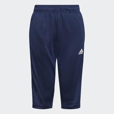 Pantalon Tiro21 3/4 Bleu Enfants Football